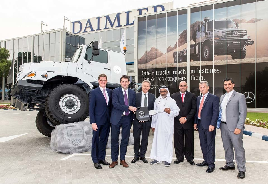 EMC has delivered 27 Mercedes-Benz Zetros trucks to Abu Dhabi's Suhail Al Mazroui Transportation and Heavy Equipment.