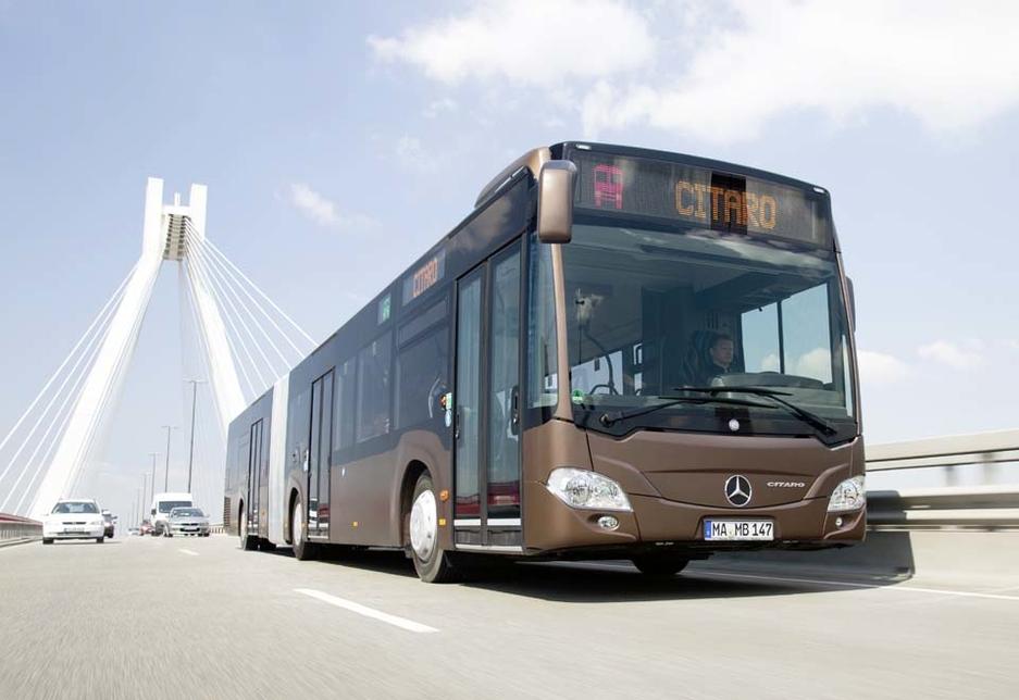 The Mercedes-Benz Citaro G city bus.