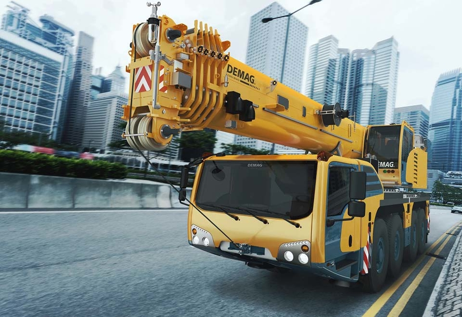 The AC 100-4L crane is one of the most compact cranes in the 100-tonne class, with a standard truck width of just 2.55m.