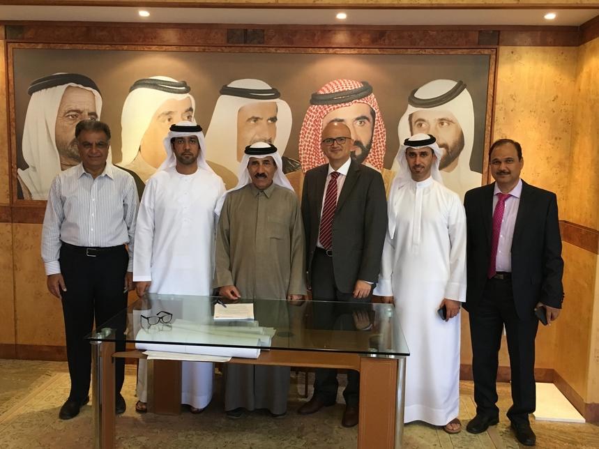 Dignitaries at Al Shafar MEP contract signing.