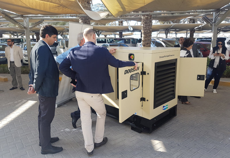 Doosan Portable Power plans to assemble up to 10,000 generators in the UAE within the next three to four years.