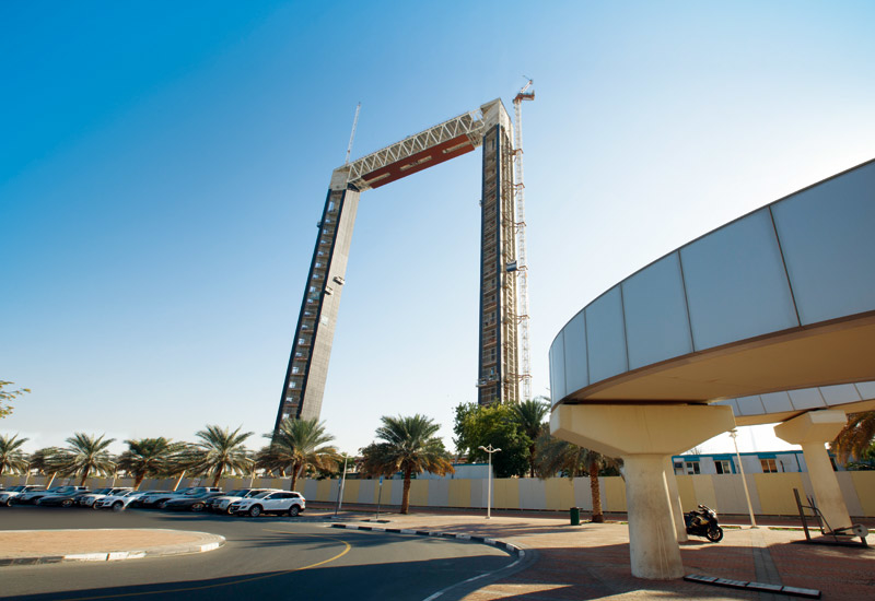 Dubai Frame will include 46 floors in total, as well as a roof level, exhibition and museum.