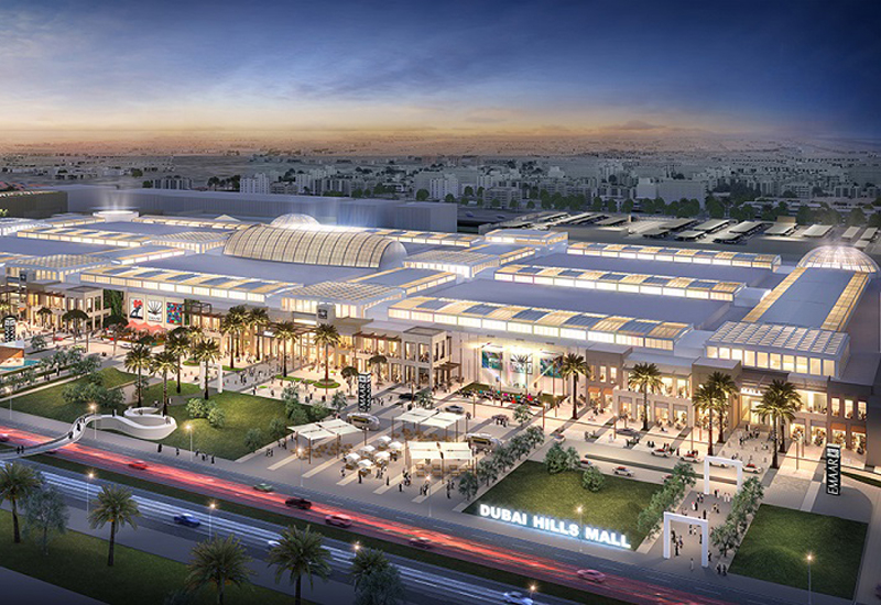 Rendering of Dubai Hills Mall.