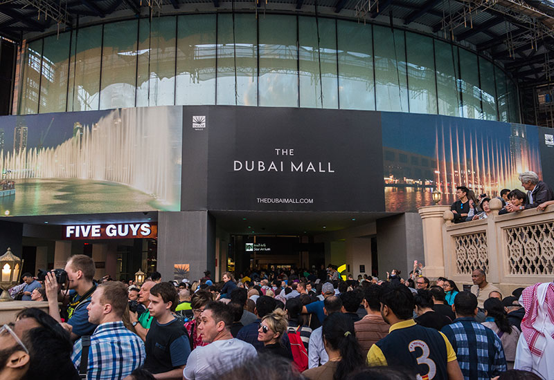 Switch Made supplied facade lighting systems for the Dubai Mall.