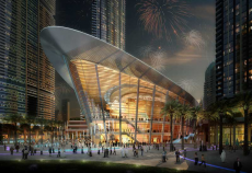 Mapei provided a selection of adhesives and grouts to support the installation of natural stone in Dubai Opera's main lobby areas and bathrooms.