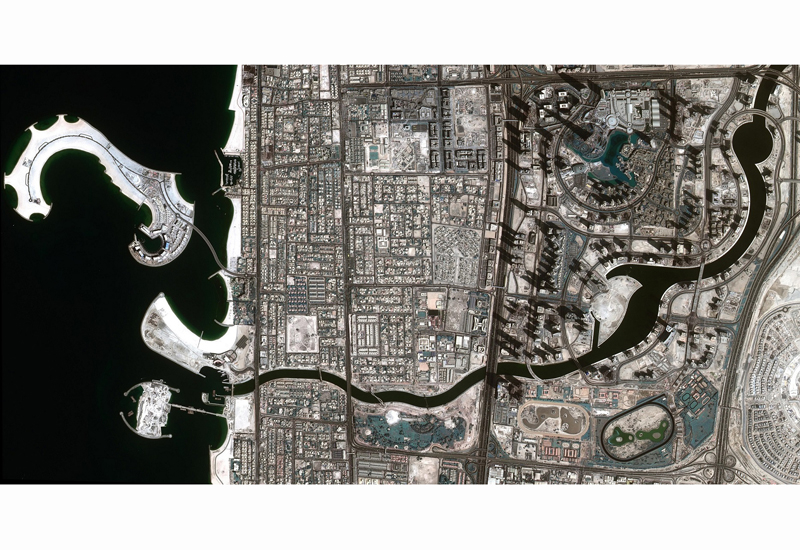 A high-definition image captured by DubaiSat-2 has confirmed that 3.2km-long, $545m Dubai Water Canal is now complete.