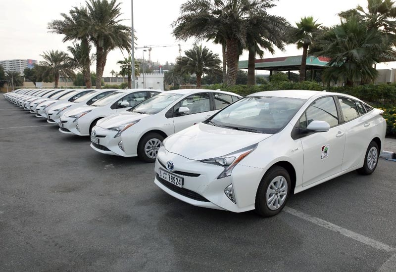 The fleet of 20 Toyota Prius cars, which have an operational range of between 700km and 1,100km.