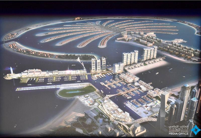 Dubai Harbour's phased development will span four years. [Image: Twitter / Dubai Media Office]