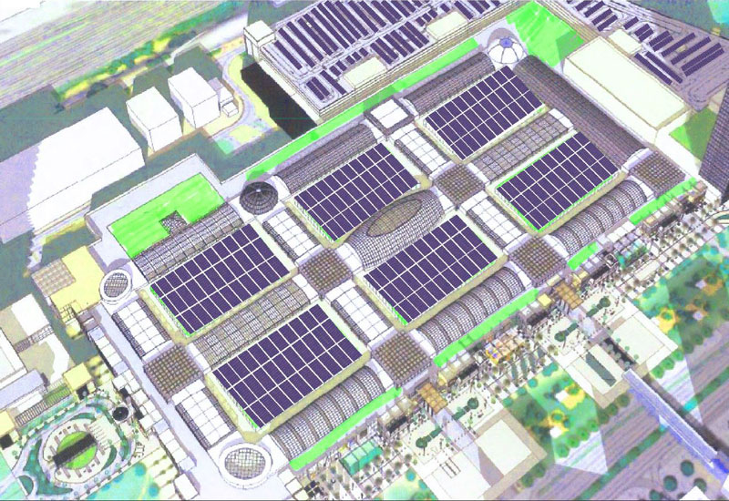Dubai Hills Mall will feature a 6.5MWp solar power facility that is being built by ALEC Energy [image: ALEC Energy].