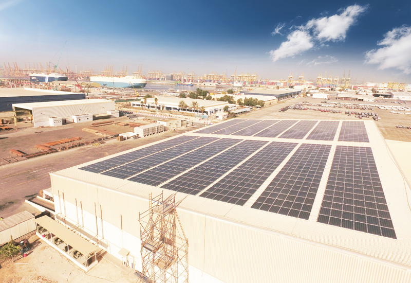 DP World has also unveiled green storage and warehouse facilities at Dubai's Jafza.