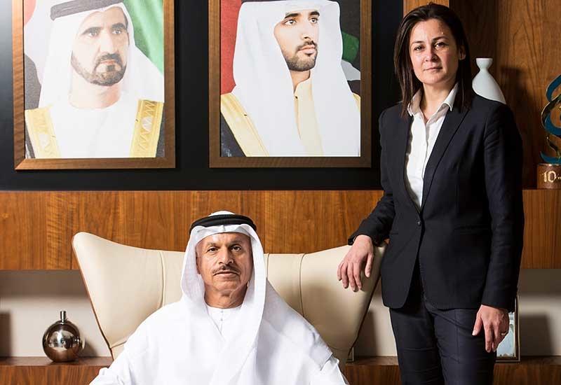 HE Eng. Khalifa Al Zaffin, Executive chairman, Dubai Aviation City Corporation and Evie Boustantzi, Chief executive officer, Duserve Facilities Management.