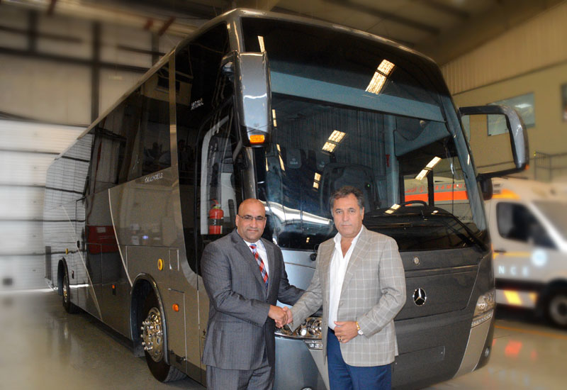 Bilal Al Ribi, GM for Daimler Commercial Vehicles at EMC, and Ricardo Khoury, chairman and CEO of Elba House.