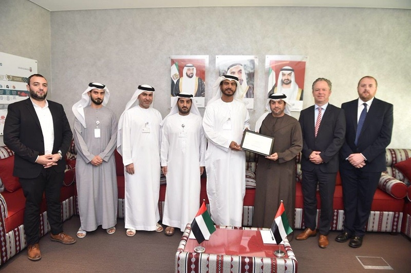 Representatives of the Abu Dhabi Quality and Conformity Council and Emirates Motor Company.