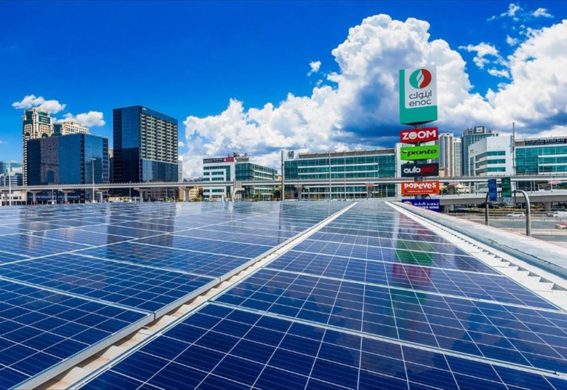 ENOC's first solar-powered service station is located in Dubai Internet City [image: WAM].