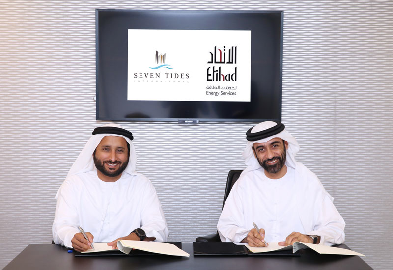 Etihad Energy Services signs its first private sector service agreement with Seven Tides.