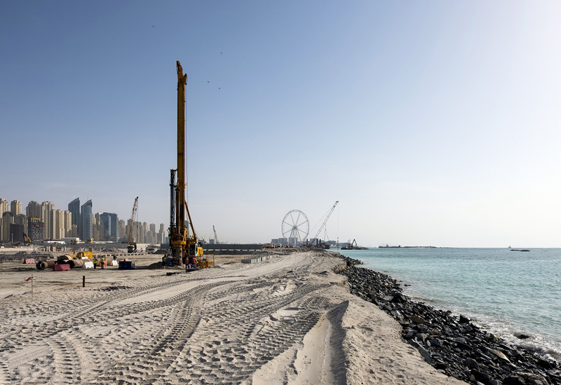 Site mobilisation work has kicked off at Emaar's Beach Vista project.