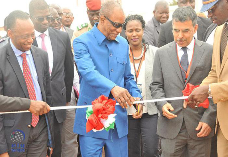 Alpha Conde, president of the Republic of Guinea officially inaugurated the facility.