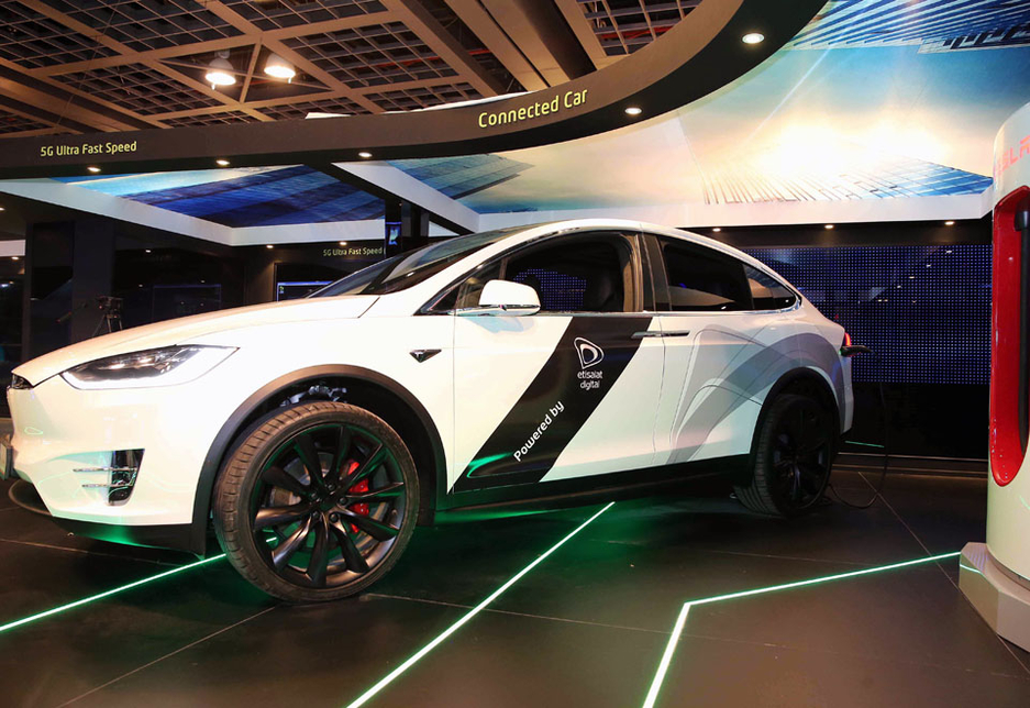 Etisalat is supporting the connected platform of the Tesla Model X.