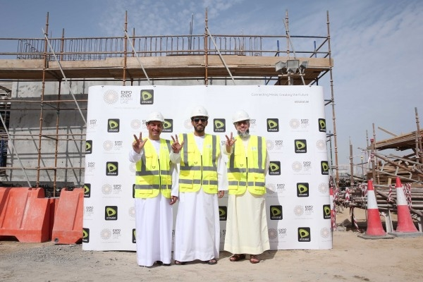 Etisalat lauded the Expo 2020 Dubai construction milestone.