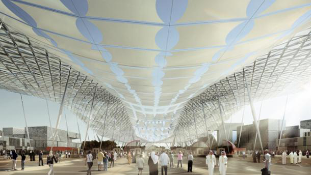 Expo 2020's master plan has been unveiled using augmented reality tools.