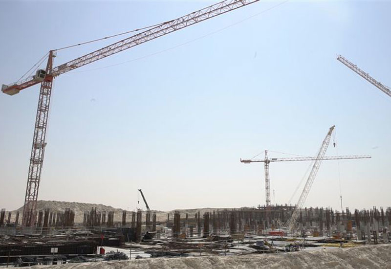 12 tower cranes are online, and 10 more will be erected on site in the next few months [image: Dubai Media Office].