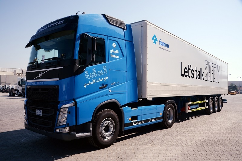 The safety edition Volvo FH truck.