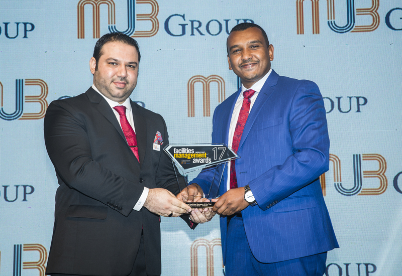 Mohammed Belal was crowned Young Facilities Manager of the Year.