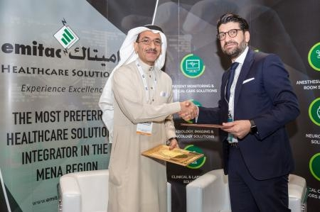 The agreement was signed at a ceremony held at EHS pavilion at the Arab Health 2018.