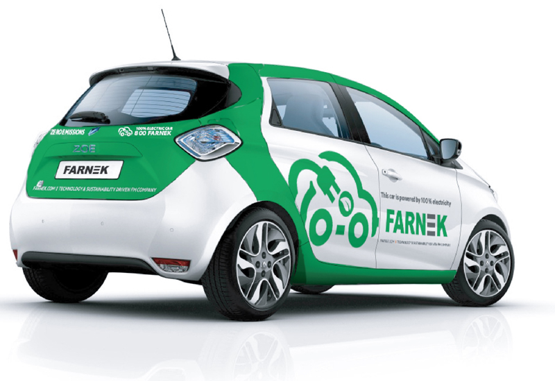 The Renault Zoe will save more than 17 tonnes in carbon emissions during its first year of operations, according to Farnek.