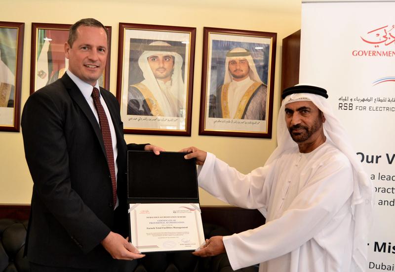 L-R: Farnek's Markus Oberlin with RSB chairman HE Ali bin Abdullah Al Owais.