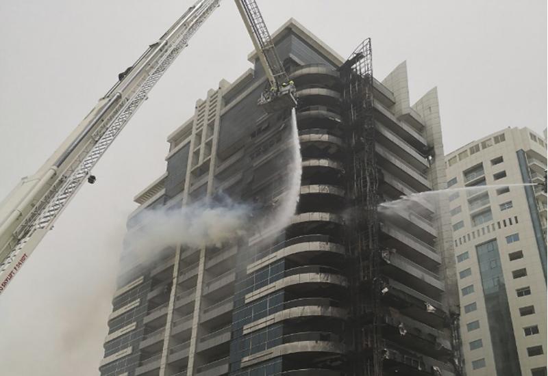 Fire at Zen Tower, Dubai Marina [image courtesy of DXB].