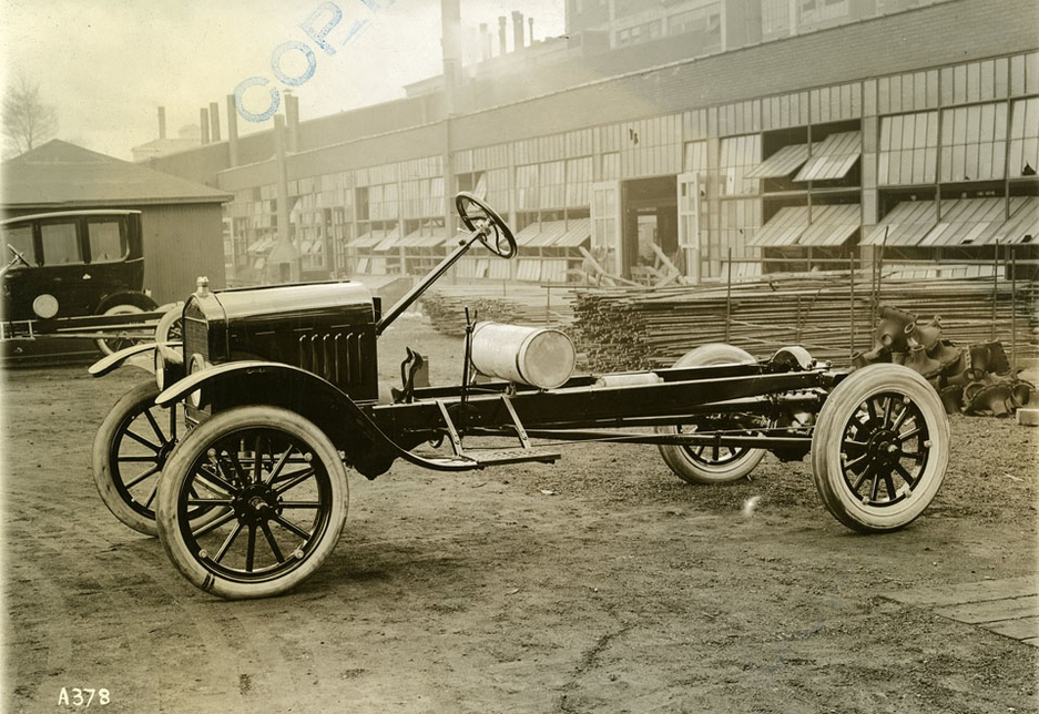 The Ford Model TT long chassis in 1921.