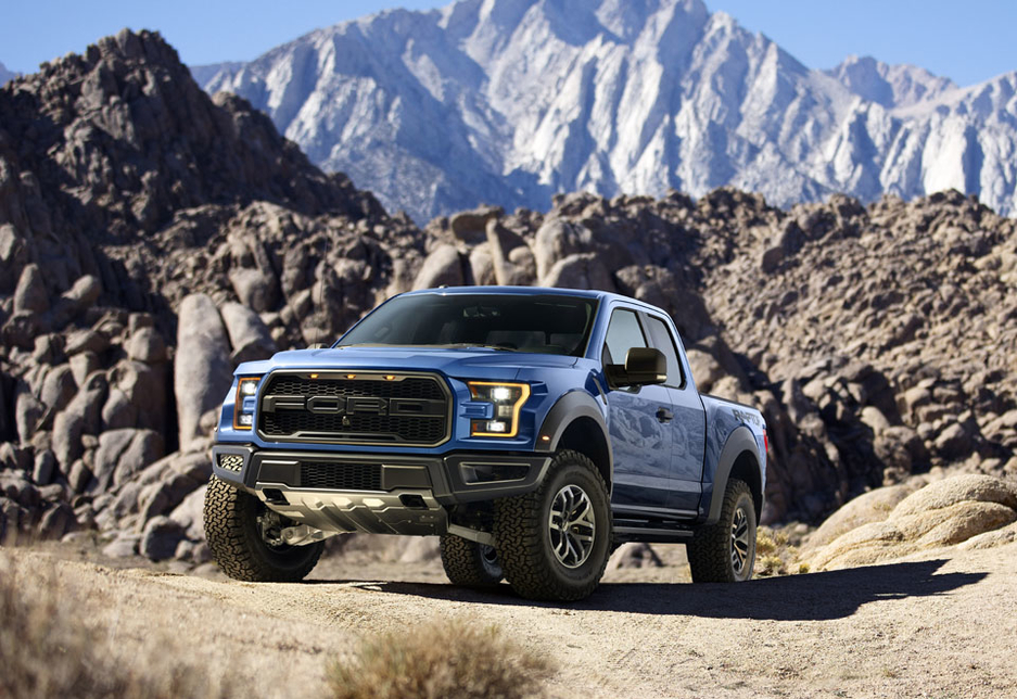 The Ford 2017 F-150 Raptor with its EcoBoost engine.