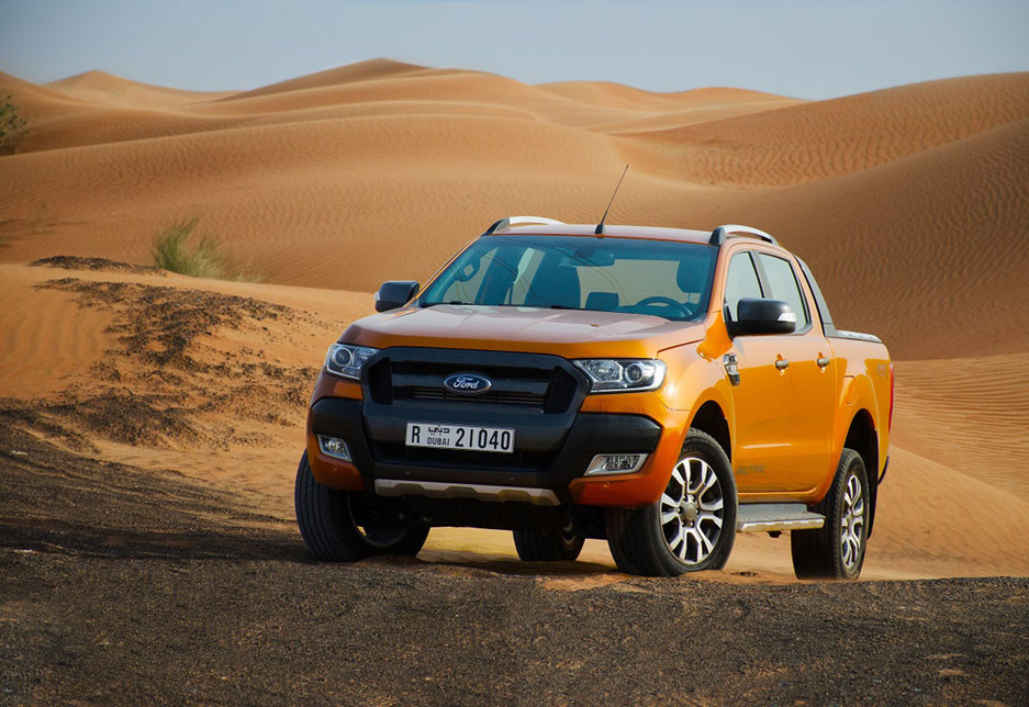 The Ford 2017 Ranger Wildtrak in the UAE.