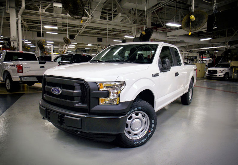 Ford recycles approximately nine-million kilograms of aluminium stamping scrap every month – enough to build 30,000 F-150 pickup truck bodies.