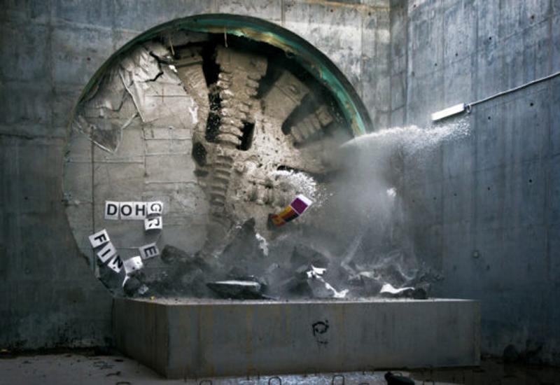 Qatar Rail's Green Line tunnel breakthrough.