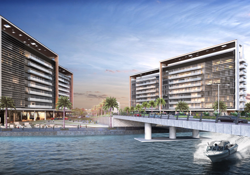 Construction on Gateway Residences is on track.
