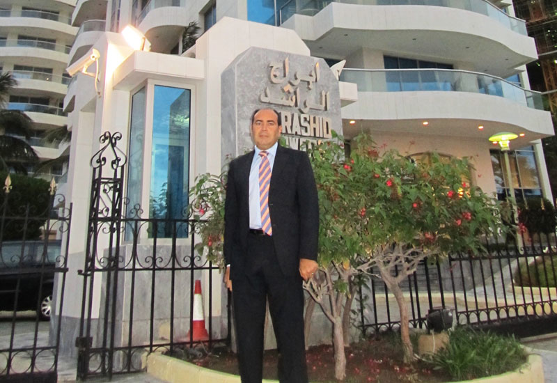 George J. Berbari, CEO, DC PRO Engineering, at Al Rashid towers.