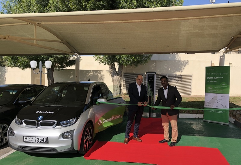 The inauguration of the EV charging station.