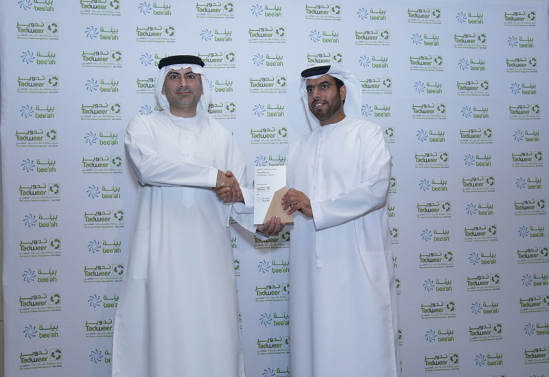 HE Khaled Al-Huraimel, Group CEO of Bee'ah and Saif Al Qubaisi, General Manager of Tadweer.