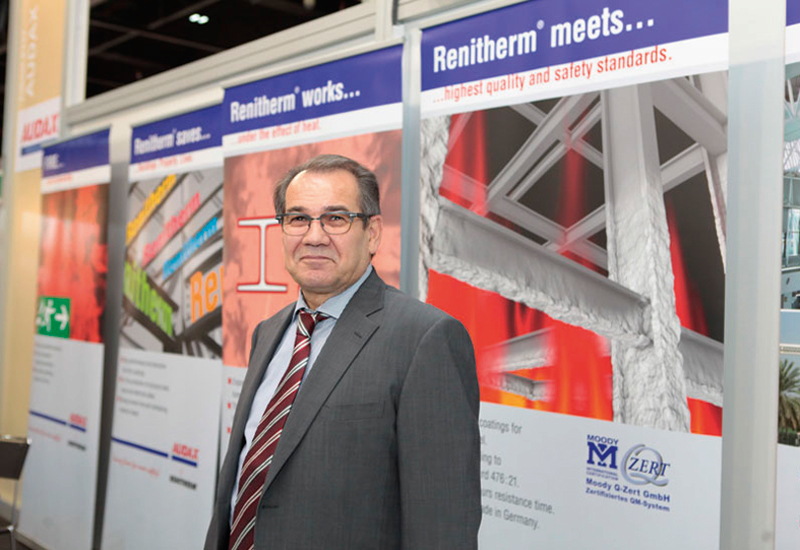 Gnther Keck (above), CEO of Audax, has been supplying Renitherm fire-protection coating in the Middle East for more than 25 years.