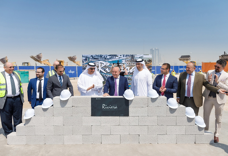 Ground breaking of Azizi Riviera waterfront development in Dubai.