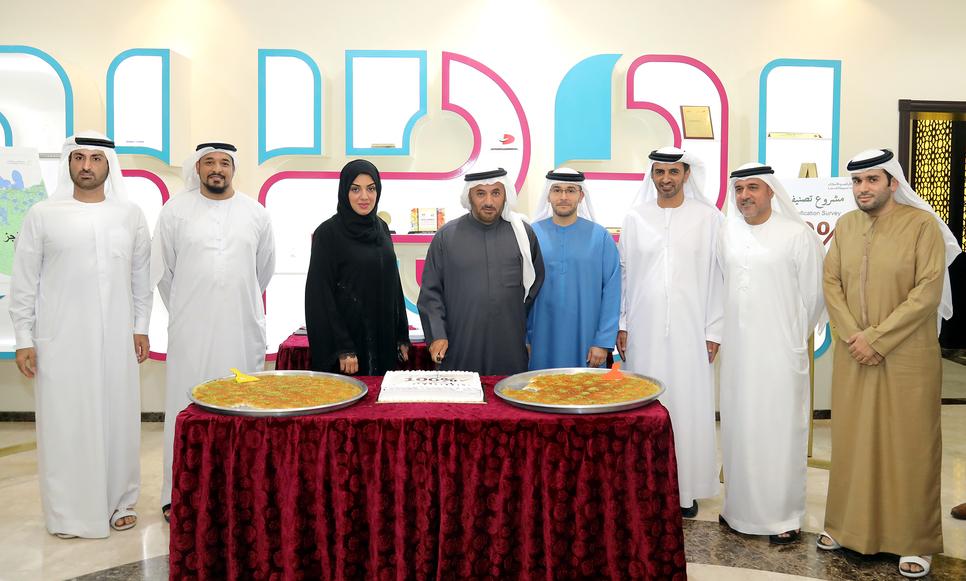HE Sultan bin Mejren (centre) with DLD top management.