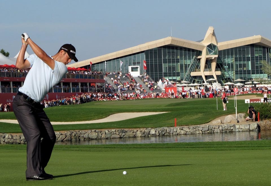 Emirates Motor Company pledges to donate dirhams for yards hit by Mercedes-Benz ambassadors Rickier Fowler and Marcel Siem at the Abu Dhabi HSBC Championship.