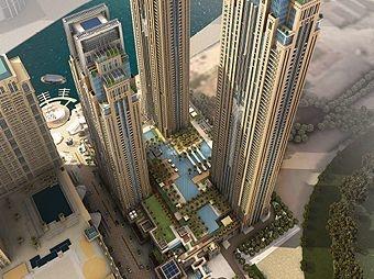 Al Habtoor City comprises three residential towers.