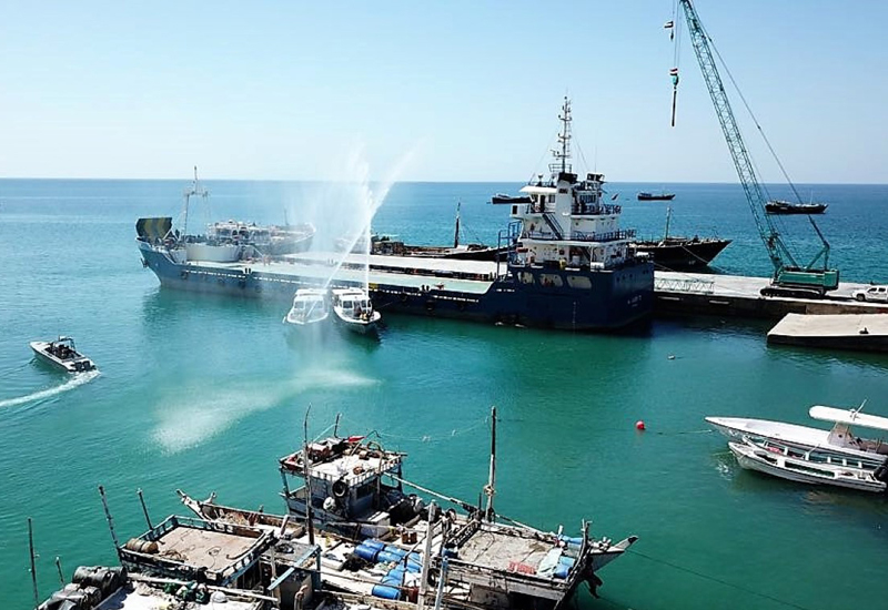 The Khalifa bin Zayed Al Nahyan Foundation has inaugurated Yemen's Hawlaf Port [image: WAM].