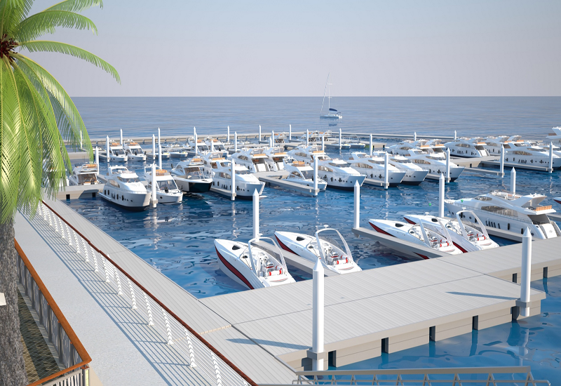 The marina has also been designed to meet the Estidama's Pearl 2 rating.