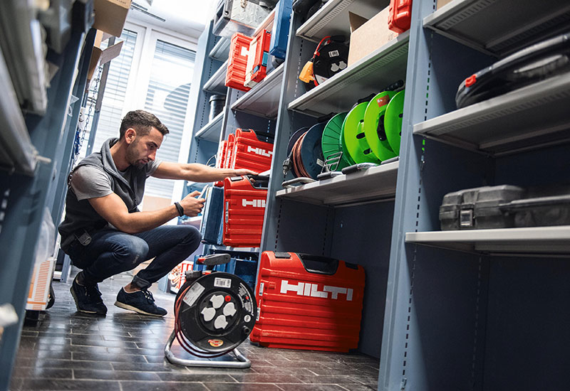 Hilti recently launched a new asset management system, Chabert says.