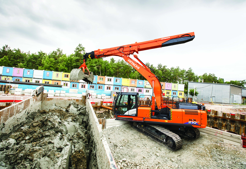 Hitachi's ZX210LC-6 could help GCC contractors working in tight spaces [image: pmvmiddleeast.com].