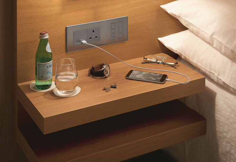 The Inncom Elements line of guestroom controls and wired devices have been designed to suit a wide range of guestroom designs, according to Honeywell.